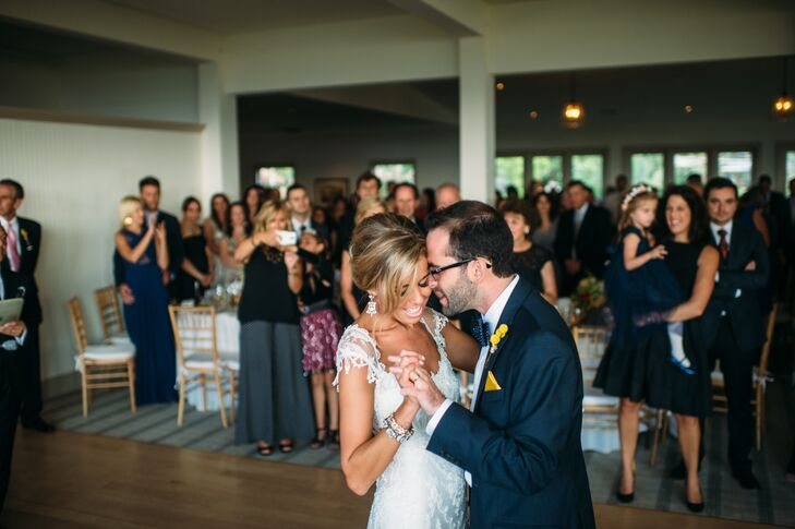 """Lauren and Jonathan had their first dance to """"Wake Up"""" by Coheed and Cambria. """"This is one of our favorite bands and the lyrics really describe how we feel about each other,"""" Lauren says."""
