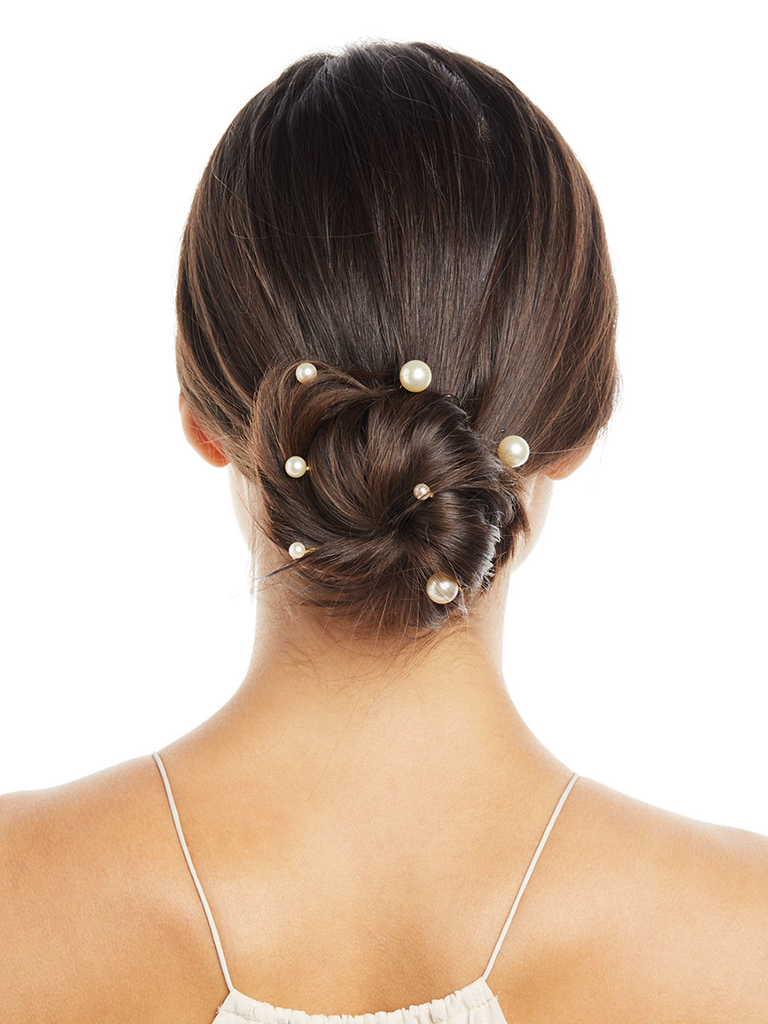 pearl wedding bobby pin hair piece