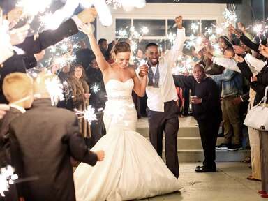 Sparkler wedding send-off idea