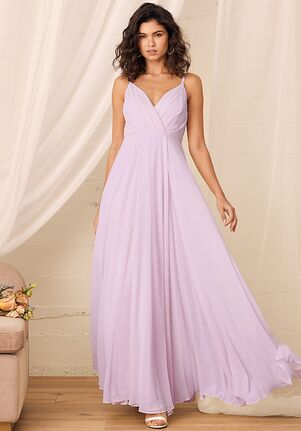 Lulus All About Love Lavender Maxi Dress V-Neck Bridesmaid Dress
