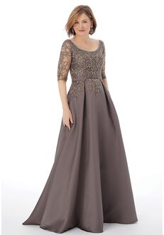 MGNY 72205 Gray Mother Of The Bride Dress
