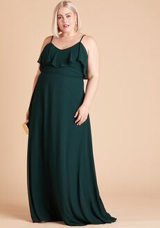Birdy Grey Jane Convertible Dress Curve in Emerald Off the Shoulder Bridesmaid Dress