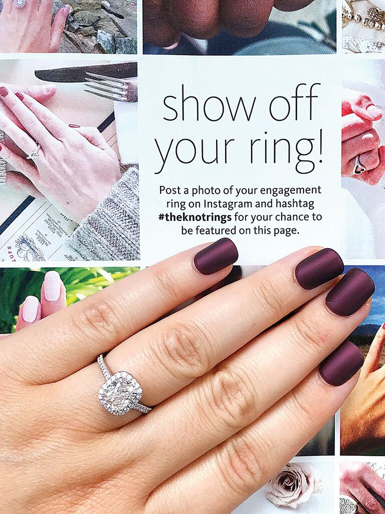 Engagment ring selfie idea with #theknotrings page