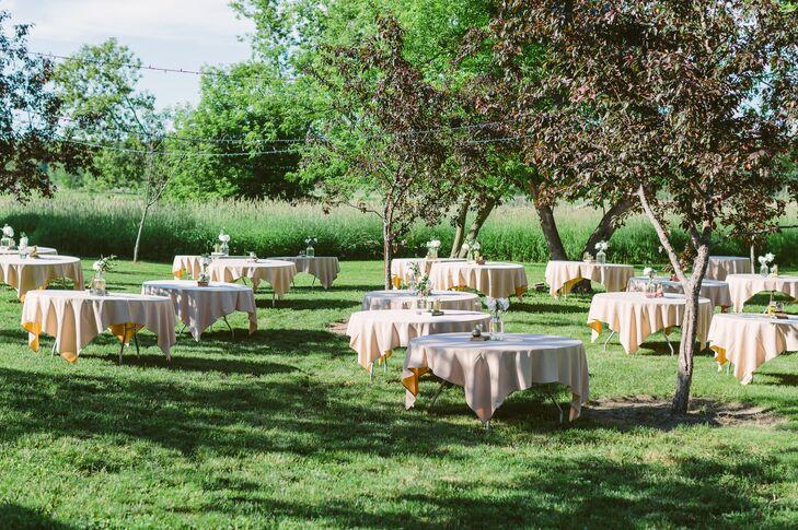 Simple Reception Setup at Givens Farm