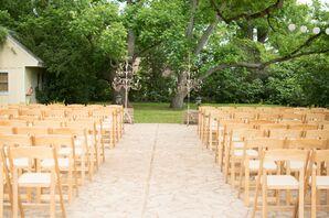 Outdoor Ceremony Venue at Hodge Podge Lodge
