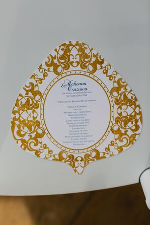 Gold Printed Fan Programs