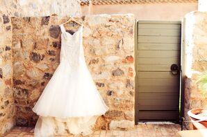 Fit-and-Flare Embellished Bodice Wedding Dress