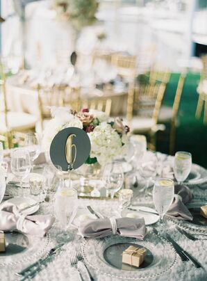 Gold and Gray Art Deco Table Numbers