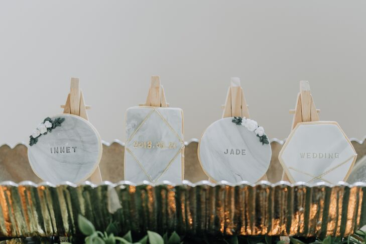 Monogrammed Marble Table Signs