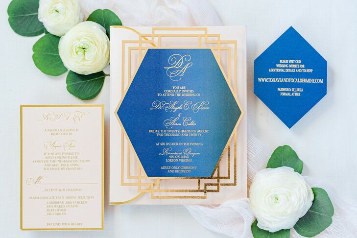 Glam Invitations for Wedding at The River View at Occoquan in Lorton, Virginia