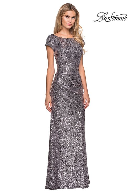 La Femme Evening 27079 Blue Mother Of The Bride Dress