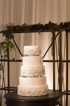 Five-Tier White Wedding Cake