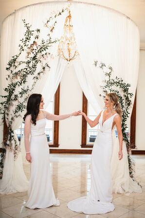 Brides Share a Moment Together Before Kansas City, Missouri, Wedding