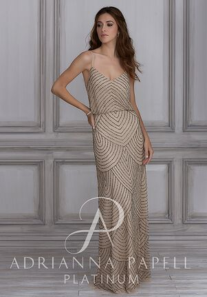 Adrianna Papell Platinum 40109 V-Neck Bridesmaid Dress