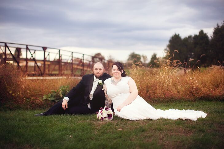 Fall Bride and Groom in Bristow, Virginia