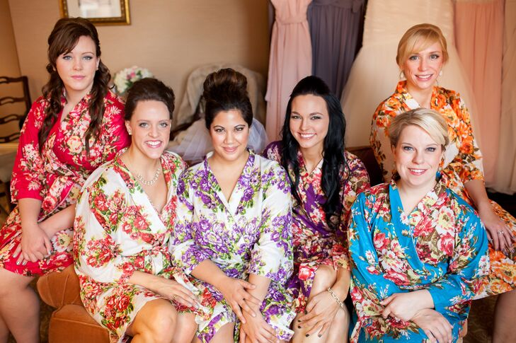 Emily and her Bridesmaids Get Ready in Plum Pretty Sugar Robes