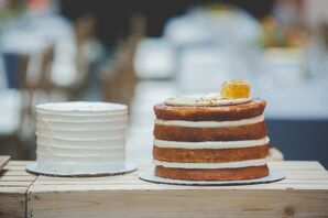 Round Single-Tier Wedding Cakes
