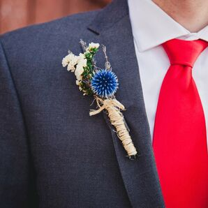 Rustic Dried Flower Boutonniere