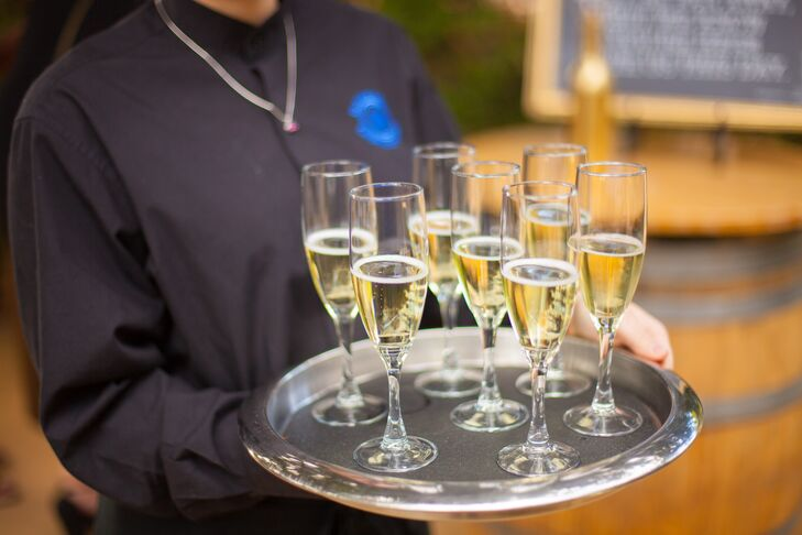 Champagne was passed after Roberto and Patrick exchanged vows at Chateau St. Jean Winery in Kenwood, California.