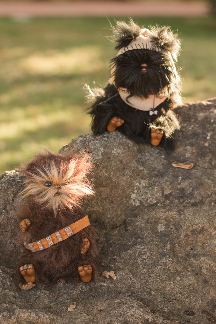Stuffed Ewoks Doubling as Ceremony Guests