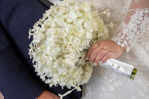 Glam White Bouquet for Wedding at Shadowbrook at Shrewsbury in New Jersey