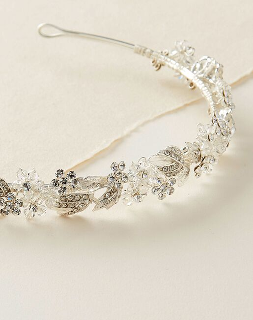 Dareth Colburn Enchanting Floral Headband (TI-3300) Silver Headband