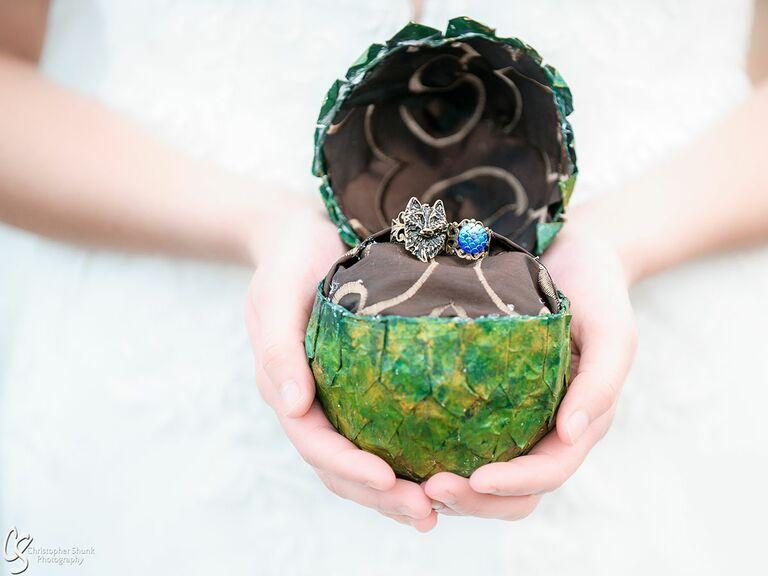 Game of Thrones–inspired dragon egg wedding ring box