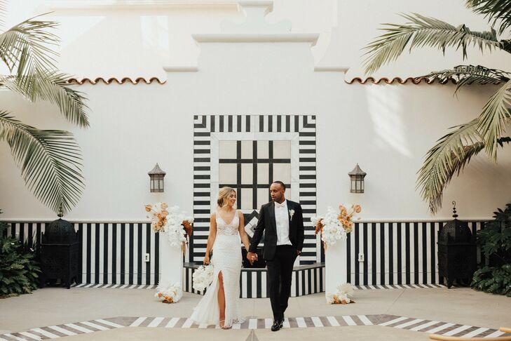 Wedding Portraits at Hotel Californian in Santa Barbara, California