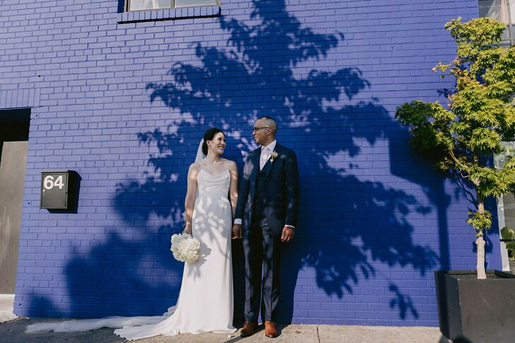 Bride and Groom Portraits at Dobin St. in Brooklyn, New York