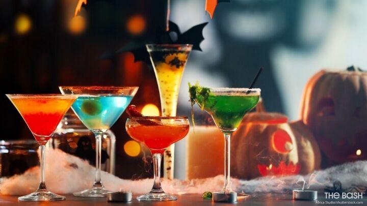 Spooky Halloween Zoom Background - Cocktails
