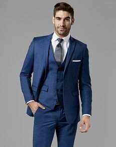 Generation Tux Mystic Blue Peak Lapel Suit Blue Tuxedo