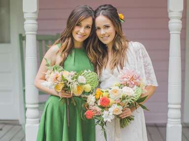 Country singer Kacey Musgraves acts as maid of honor at her sister's wedding