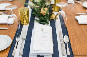 Nautical-Inspired Navy Table Runner