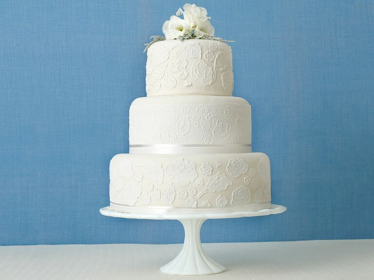 Tiered Wedding Cakes On Display