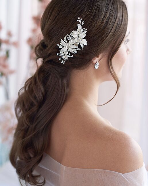 Dareth Colburn Petite Frosted Flower Clip (TC-2284) Silver Pins, Combs + Clip