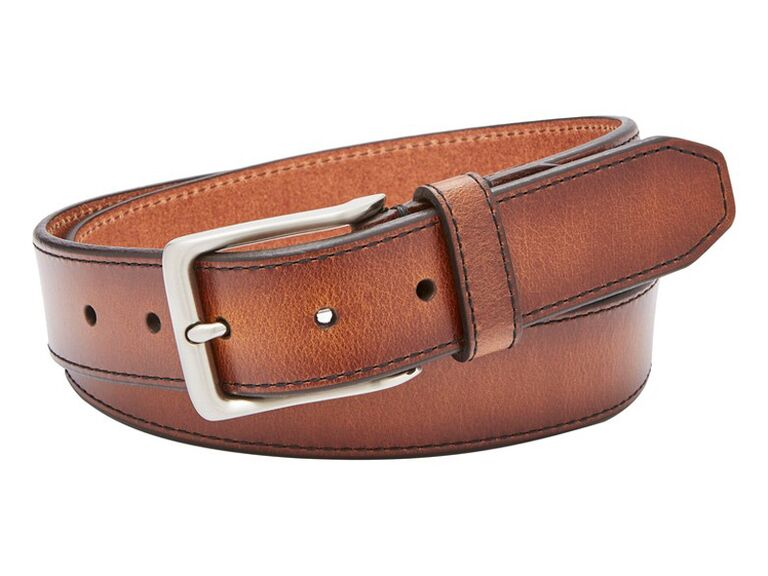Fossil Griffin Leather Belt best groomsmen gift 0d0a8527373a5