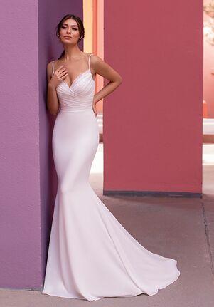 WHITE ONE LILAC Mermaid Wedding Dress