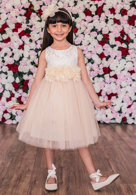 Kid's Dream 414-F Gold Flower Girl Dress
