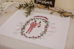 Personalized Paper Guest Book with Illustration