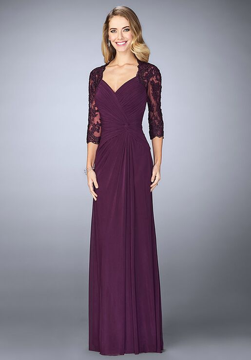 La Femme Evening 23244 Blue Mother Of The Bride Dress