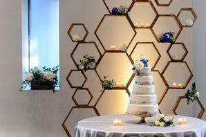 Geometric Wood Cake Backdrop