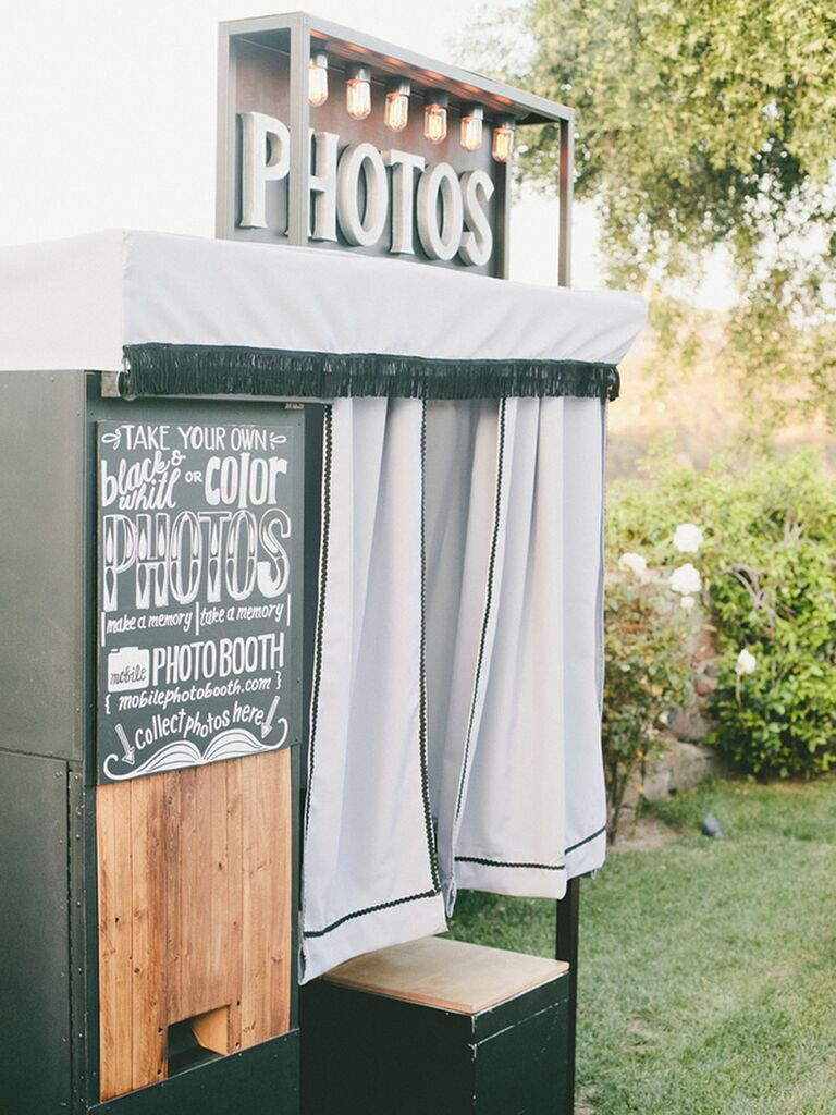 Wedding Photo Booth Idea With A Fun Rental