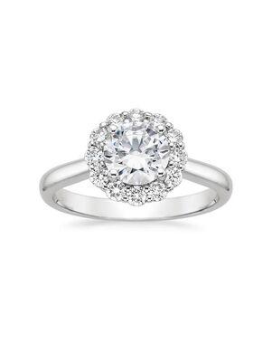 Platinum Jewelry Unique Round Cut Engagement Ring