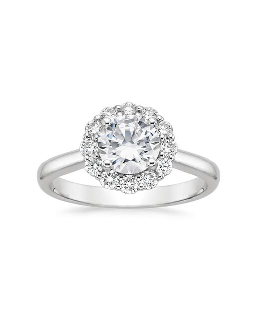 Platinum Jewelry Brilliant Earth Lotus Flower Diamond Ring