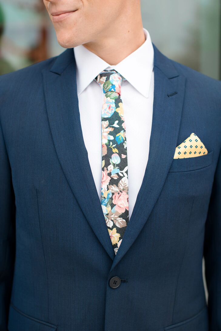 705f1abc24da Jacob donned a fabulous blue suit with a floral tie to add a little  softness to