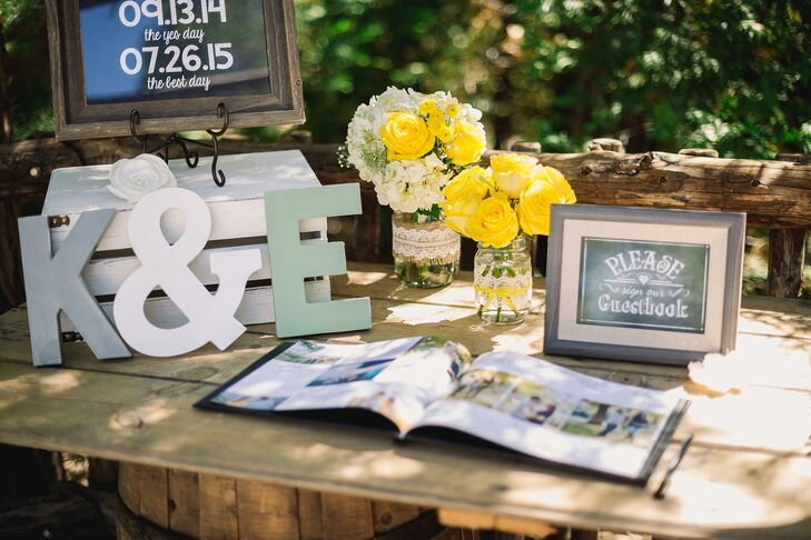 Erin and Kyle worked from a palette of canary yellow, gray-blue and green.