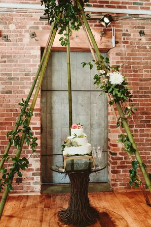 Cake Table with Triangular Arch Display