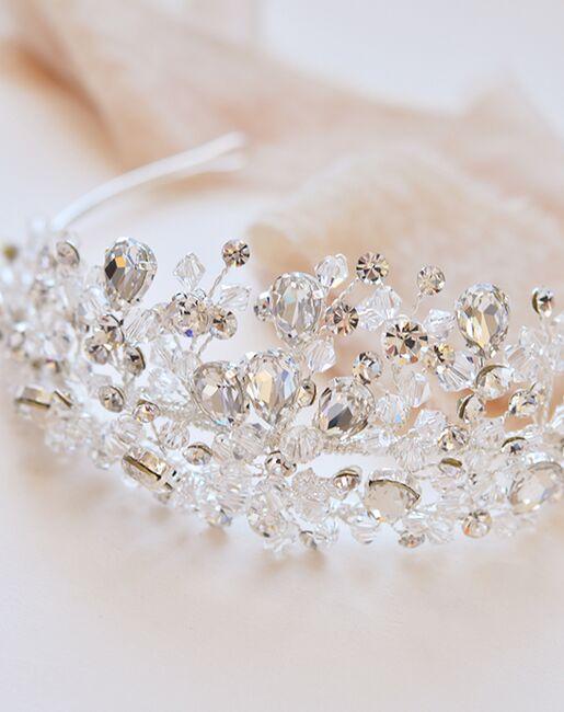 Dareth Colburn Bliss Swarovski Crystal Tiara (TI-3299) Silver Tiara