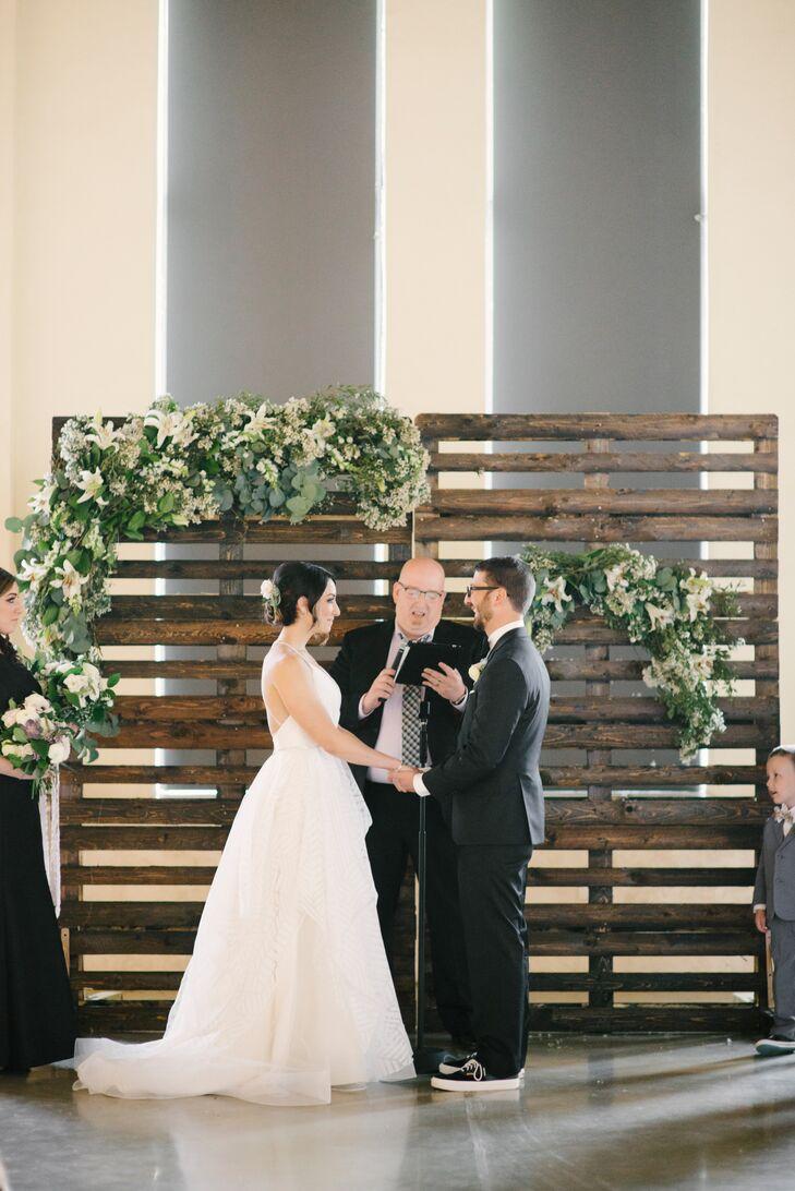 Rustic Wood Pallet Ceremony Backdrop