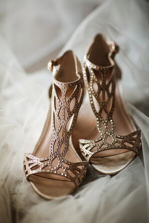 Sparkly Gladiator Heels with Studs